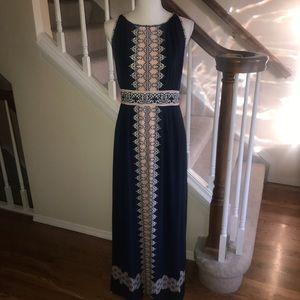 Max Studio stretch knit maxi dress size M